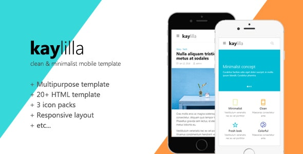Kaylilla - Clean & Minimalist Mobile Template - Mobile Site Templates