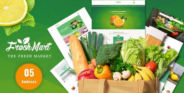 Freshmart - Organic, Fresh Food, Farm HTML Template - Food Retail