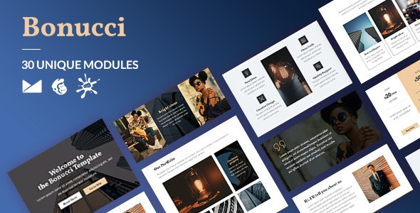 Bonucci Email-Template + Online Builder - Newsletters Email Templates