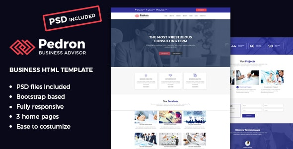 Pedron – Business Consulting HTML Template - Business Corporate