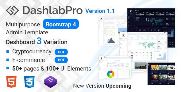 Dashlabpro -  Multipurpose  Bootstrap 4 Admin Template - Admin Templates Site Templates