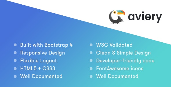 Aviery - Responsive Template for SaaS - Corporate Site Templates