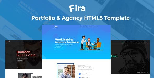 Fira - Personal Portfolio & Agency HTML5 Template - Portfolio Creative