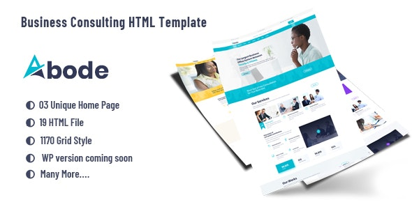 ABODE - Consulting, Finance, Business  HTML5 Bootstrap 4 Template - Business Corporate