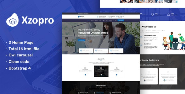 Xzopro | Business And Financial Consulting HTML5 Template - Business Corporate