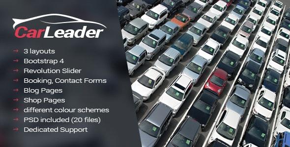 CarLeader - Car Dealer HTML website template - Business Corporate