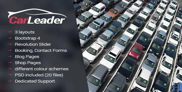 CarLeader - Car Dealer HTML website template