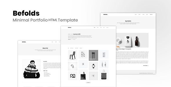 Befolds - Minimal Portfolio Template - Portfolio Creative