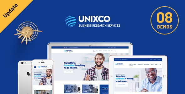 Unixco - Business Research Services WordPress Theme - Business Corporate