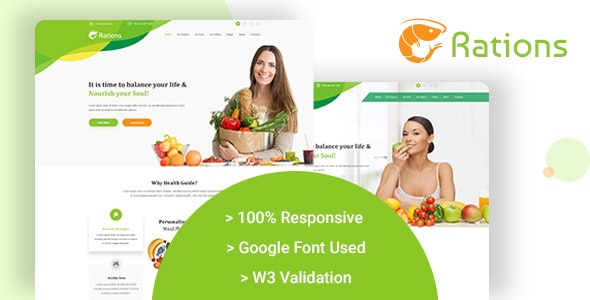 Ration - Diet & Nutrition Website Templates - Food Retail