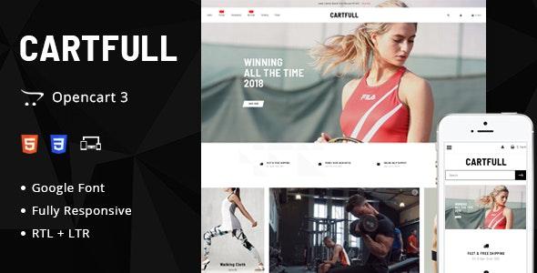 Cartfull Opencart Responsive Theme - Fashion OpenCart