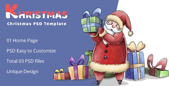 Khristmas - Christmas PSD Template - Photoshop UI Templates