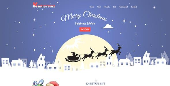 Khristmas - Christmas PSD Template