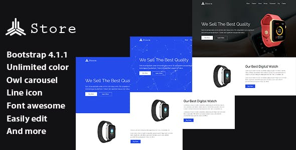 Store - Responsive Product Landing Page Template