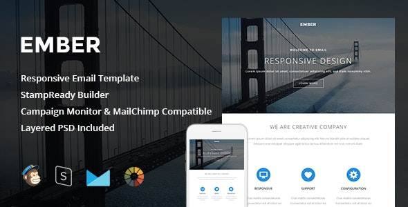 Ember - Responsive Email + StampReady Builder - Newsletters Email Templates