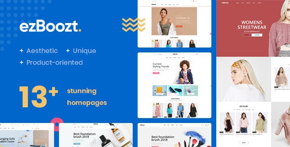 EZBOOZT - Fashion, Beauty & Furniture  Magento 2.2.x Theme - Magento eCommerce