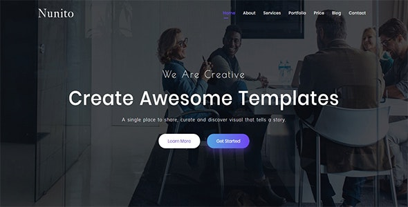 Nunito - Responsive Bootstrap 4 Landing Template - Landing Pages Marketing