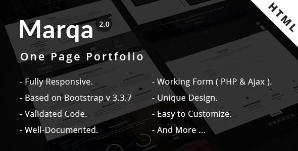 Marqa | One Page Personal & Portfolio HTML Template