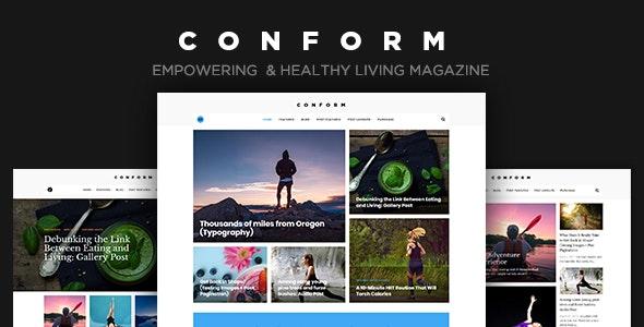 Con Form - Healthy Lifestyle Magazine Theme - Personal Blog / Magazine