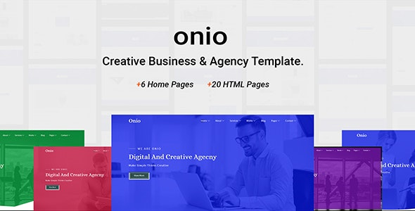 Onio - Creative Business & Agency Template - Corporate Site Templates