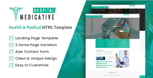 Medicative Hospital - Health and Medical HTML Template - Health & Beauty Retail