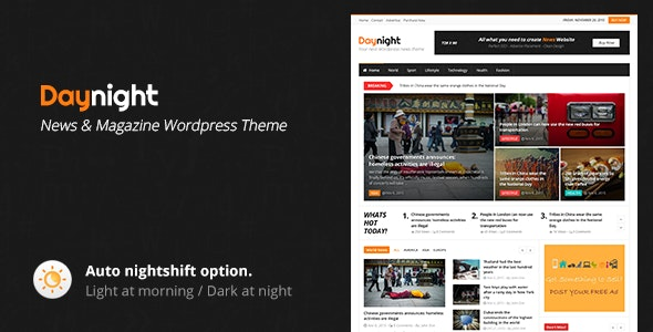 Daynight - Magazine Theme - News / Editorial Blog / Magazine