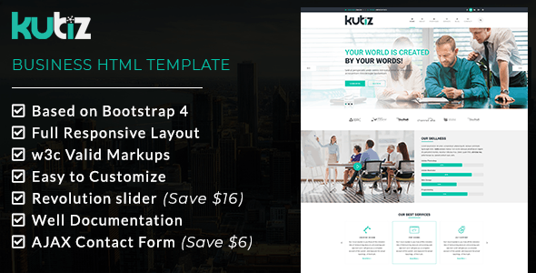 KUBIZ - Business HTML Template - Business Corporate
