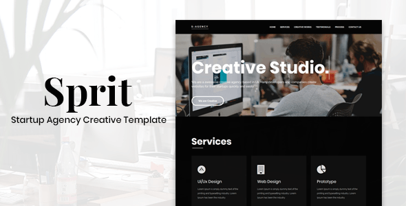 Sprit - Startup Agency Creative Template - Business Corporate