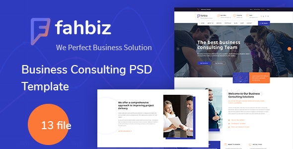 Fahbiz - Business Consulting PSD Template - Corporate Photoshop