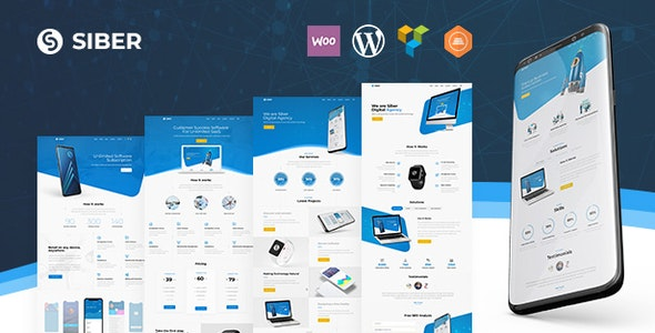 Siber - SaaS, Software & Mobile App WordPress - Software Technology