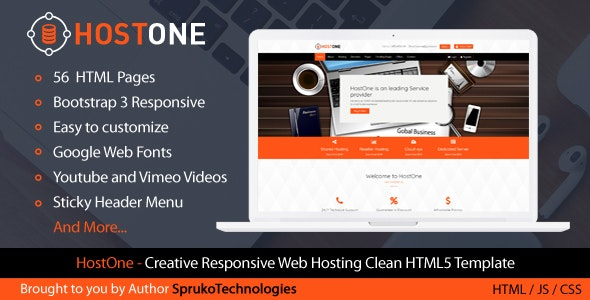 HostOne - Web Hosting HTML Creative Responsive Clean Template - Hosting Technology