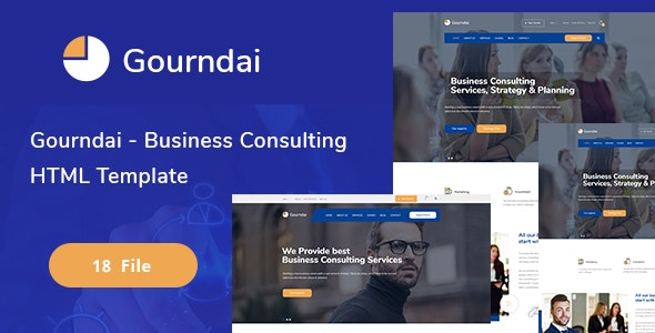 Gourndai - Business Consulting  HTML Template - Corporate Site Templates