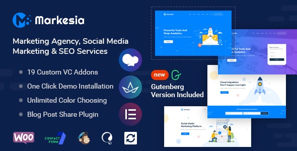 Markesia - Digital Marketing Agency and SEO WordPress Theme - Marketing Corporate