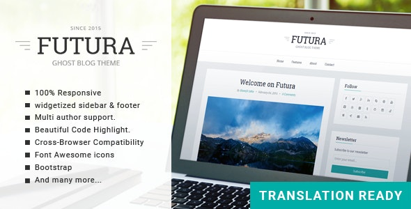 Futura - Responsive Minimal Ghost Theme by GBJsolution | ThemeForest