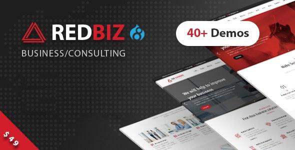 RedBiz – Business & Consulting Multi-Purpose Drupal 8 Theme