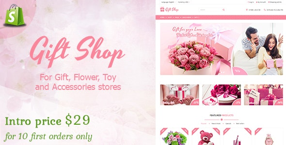 Gift shop - Gift, flower, toy & accessories Shopify stores - Shopify eCommerce