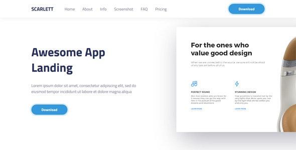 Scarlett — Responsive App Landing - Software Technology