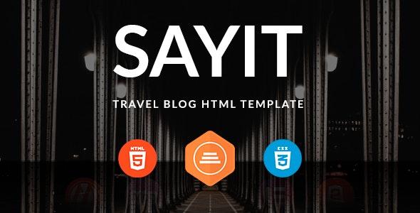 Blog SayIT HTML by pixel-mafia