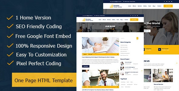 Sonstan || Corporate & Business One Page HTML5 Template - Corporate Site Templates