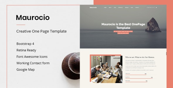Maurocio - Creative One Page HTML5 Template - Creative Site Templates