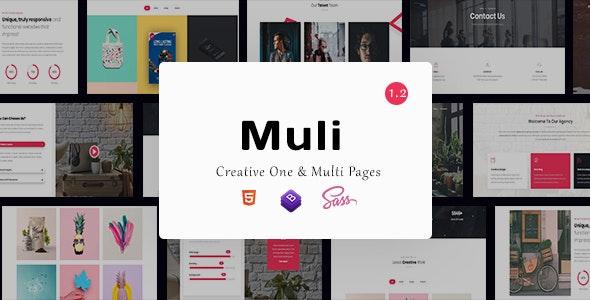 Muli - Creative MultiPurpose Template - Creative Site Templates
