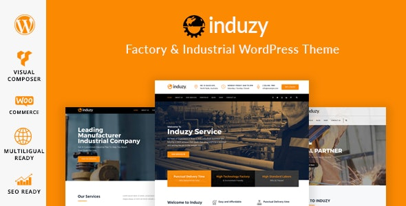 Induzy - Factory & Industrial WordPress Theme - Business Corporate