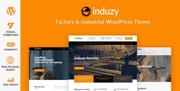 induzy fabrika wordpress teması