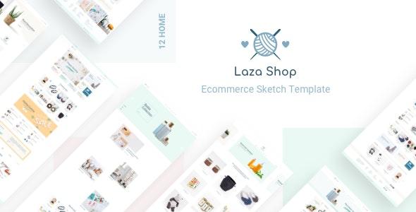 Laza - Mutilpurpose eCommerce Sketch Template - Sketch UI Templates