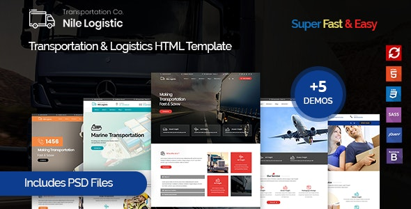Nile - Transportation and Logistics HTML Template - Business Corporate