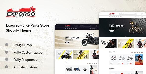 Exporso -  Car Parts  & auto Accessories Store Shopify Theme - Shopping Shopify