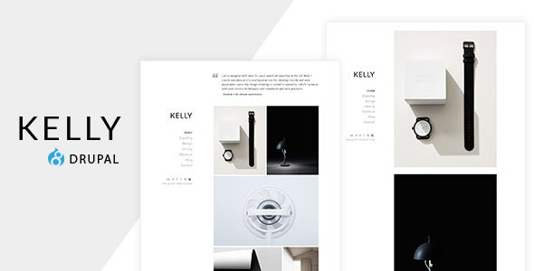 Kelly - Minimal Portfolio & Photography Drupal Theme - Portfolio Creative