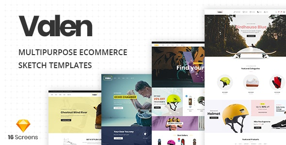 Valen - A Multi-Concept Ecommerce Sketch Template - Shopping Retail