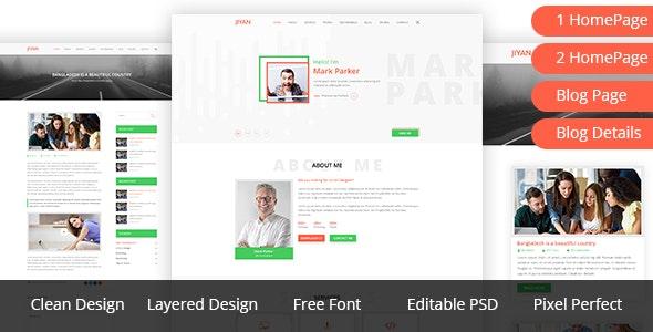 JIYAN - Personal Portfolio PSD Template - Portfolio Creative