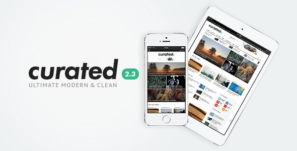 Curated | Ultimate Modern Magazine Theme - Blog / Magazine WordPress